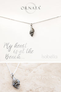 """My Heart is at the Beach"" Delicate Seashell Necklace"