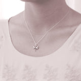 """Wisdom, Luck, & Victory"" Sterling Silver Dragonfly Necklace 