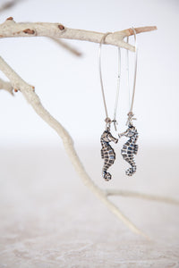 Silver Plated Seahorse Earrings