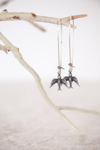 Silver Plated Small Bird Earrings