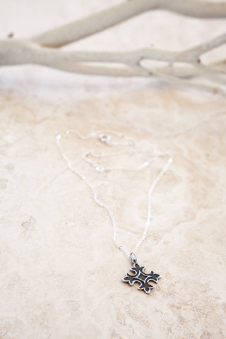 Delicate Silver Plated Small Cross Charmed Necklace