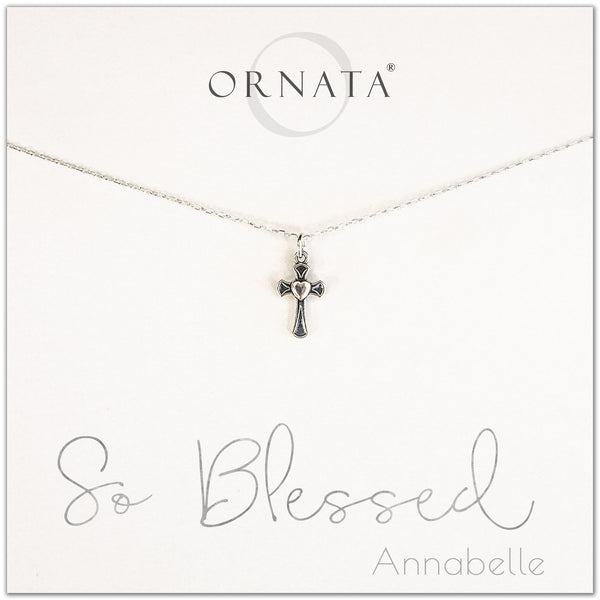 So blessed cross necklace - personalized silver cross necklace. Our sterling silver custom jewelry is a perfect gift for girlfriends, wives, mothers, nieces, daughters, best friends, sisters, significant others, newlyweds, and soul mates - symbolic cross necklace.