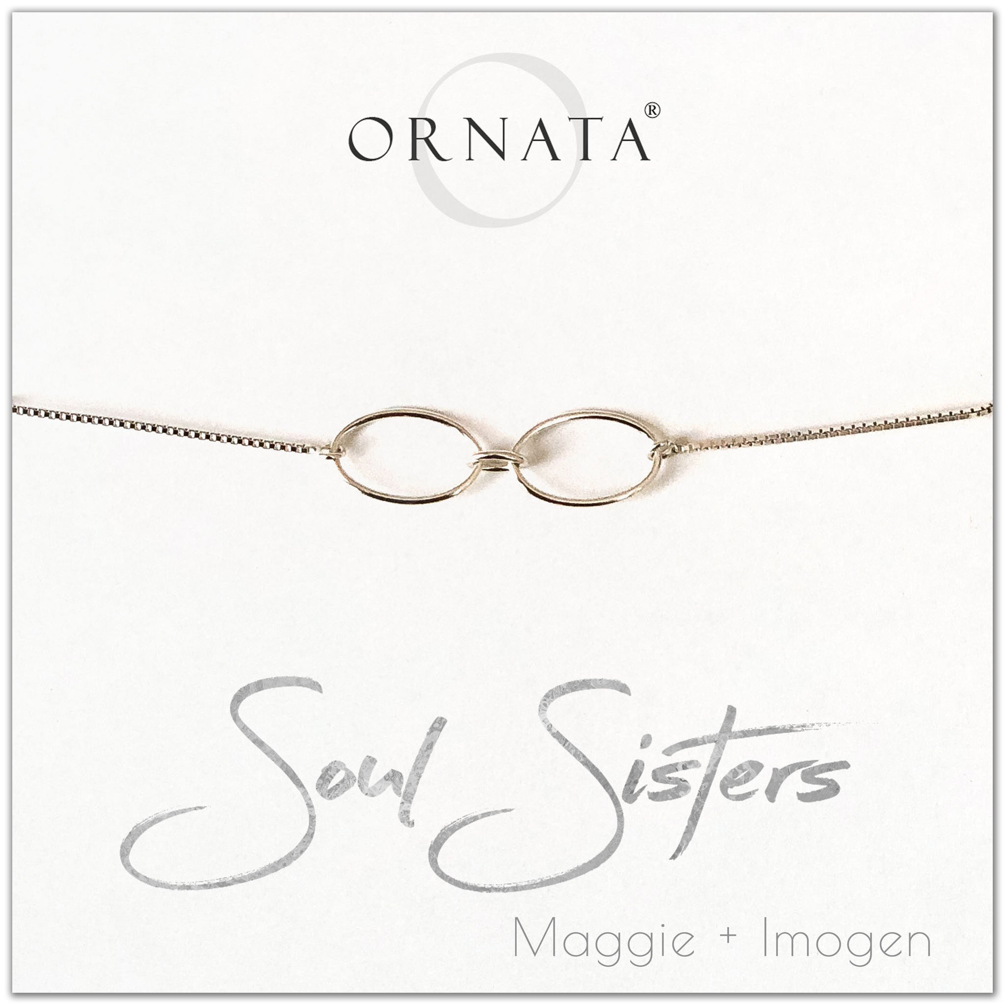 Soul Sisters personalized sterling silver bolo bracelet. Our custom bracelets make good gifts for best friends or sisters.