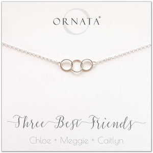 e6315d969 Personalized three best friends necklace. Our sterling silver custom jewelry  is a perfect gift for