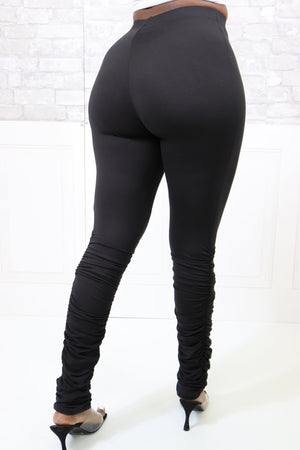 DAPPER STACKED LEGGING PANTS - Spice Boutique