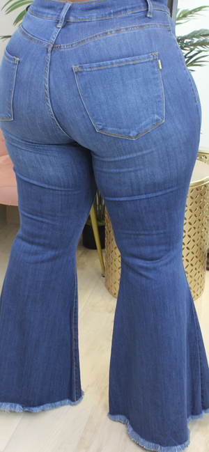 CURVE AMY FLARE DENIM - Spice Boutique