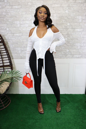 INVITE ONLY OFF WHITE BLOUSE - Spice Boutique