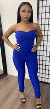 ROYAL FIT RUCHED JUMPSUIT - Spice Boutique