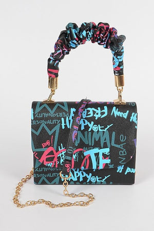 PRINCESS GRAFFITI MINI PURSE - Spice Boutique