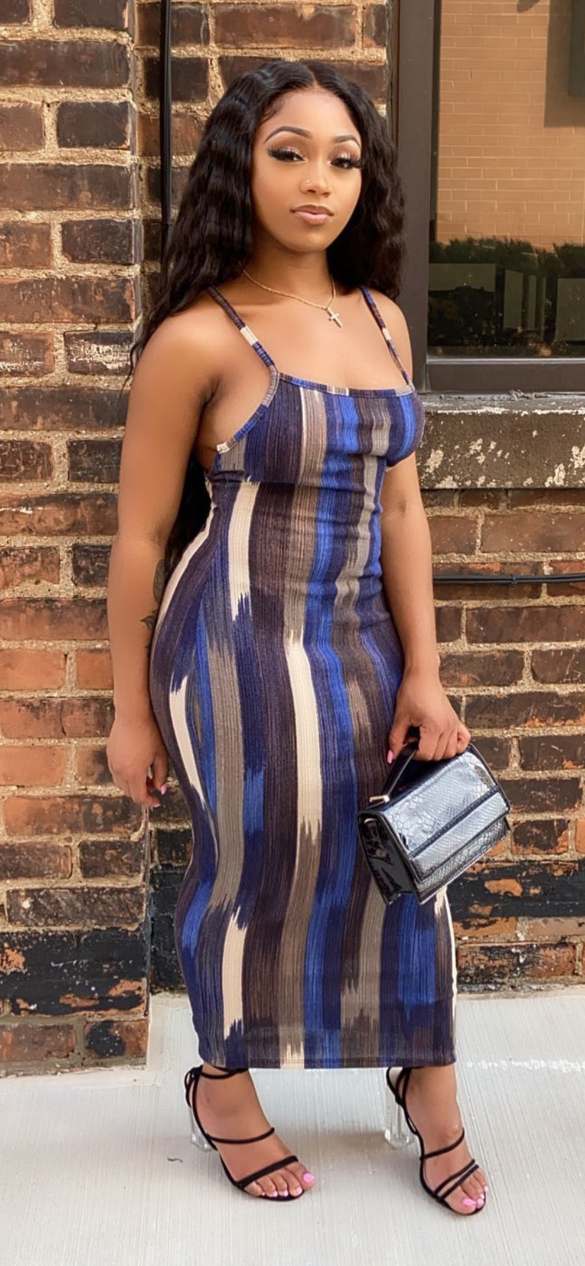 ON A WAVE MIDI DRESS - Spice Boutique