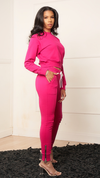 KATE PINK LINED JOGGER SET - Spice Boutique