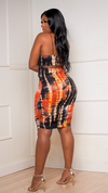 NEVER LATE RUCHED BODYCON DRESS