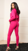 KATE PINK LINED JOGGER SET