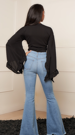 JACKIE LIGHT FLARE JEANS