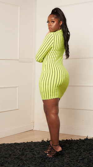 STRIPE ME MIDI DRESS