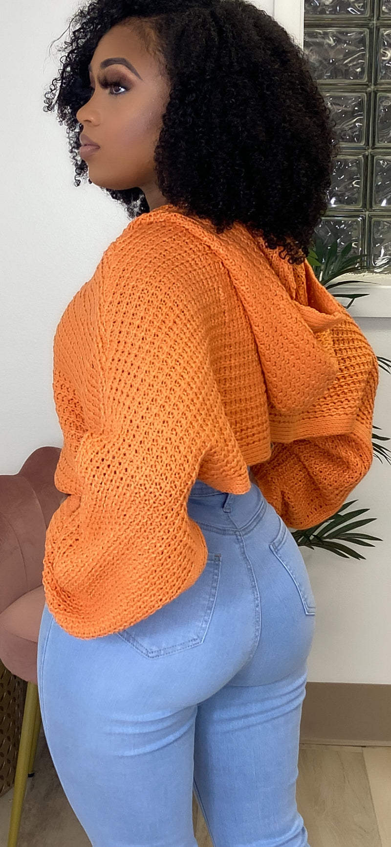 AMIR CROPPED HOODIE KNIT SWEATER - Spice Boutique