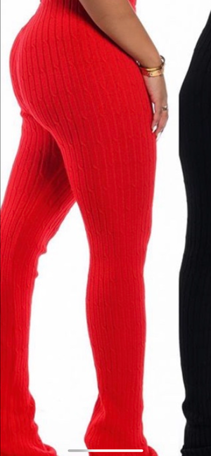 LEXI KNITTED PANTS (PREORDER 6/15) - Spice Boutique