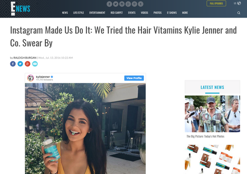 Instagram Made Us Do It: We Tried the Hair Vitamins Kylie Jenner and Co. Swear By