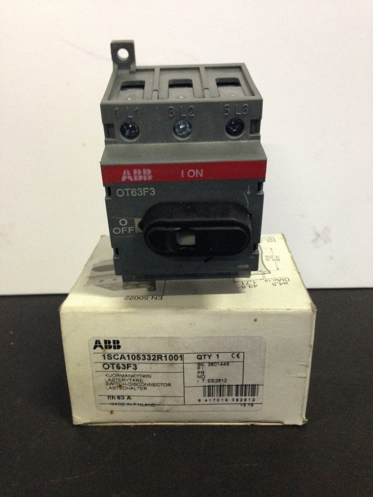ABB Switch Disconnector OT63F3 - Electrical Equipment - Metal Logics, Inc.