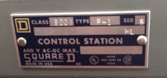 Square D Control Station 9001P3 - Sensors And Switches - Metal Logics, Inc. - 2