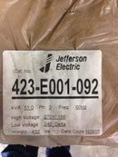 Jefferson Electric Dry Type Drive Isolation Transformer 51 KVA  423-E001-092 - Transformers - Metal Logics, Inc. - 7