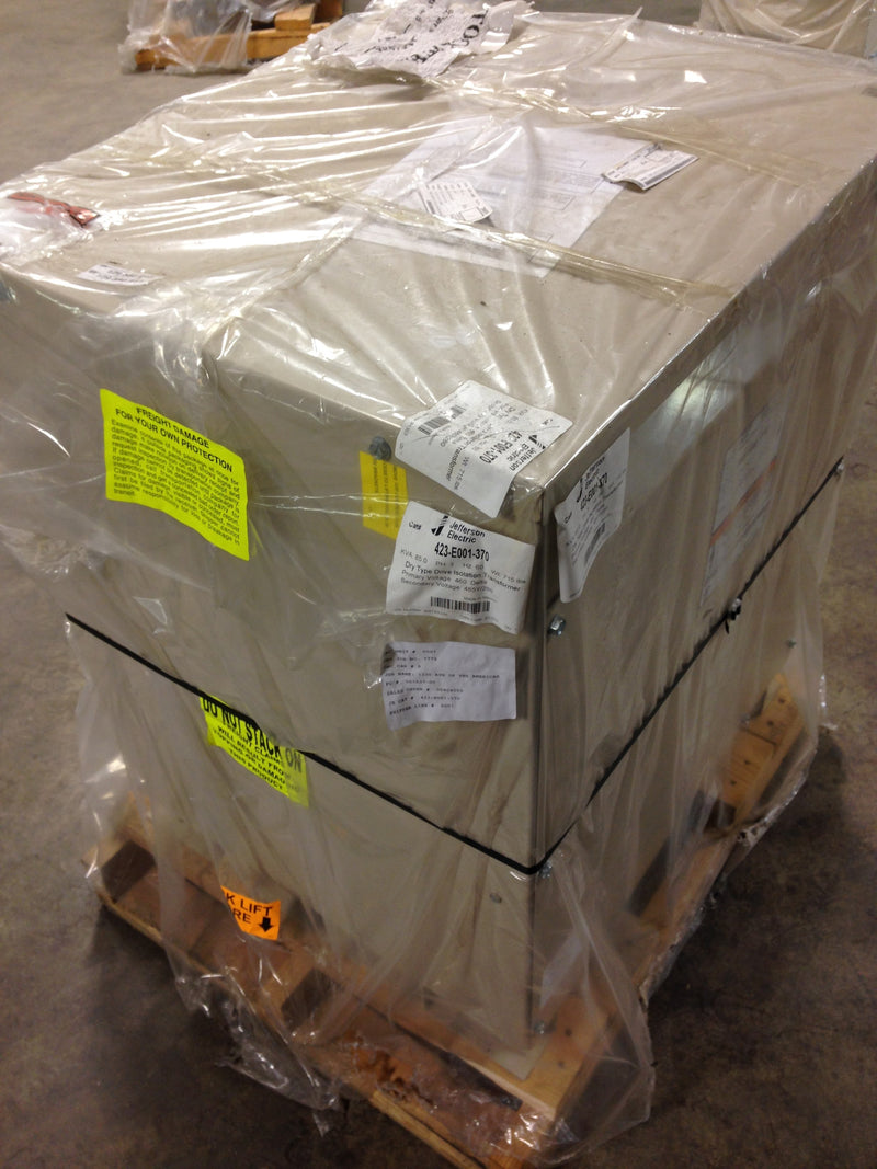Jefferson Electric Dry Type Drive Isolation Transformer KVA 85 423-E001-370 - Transformers - Metal Logics, Inc. - 3