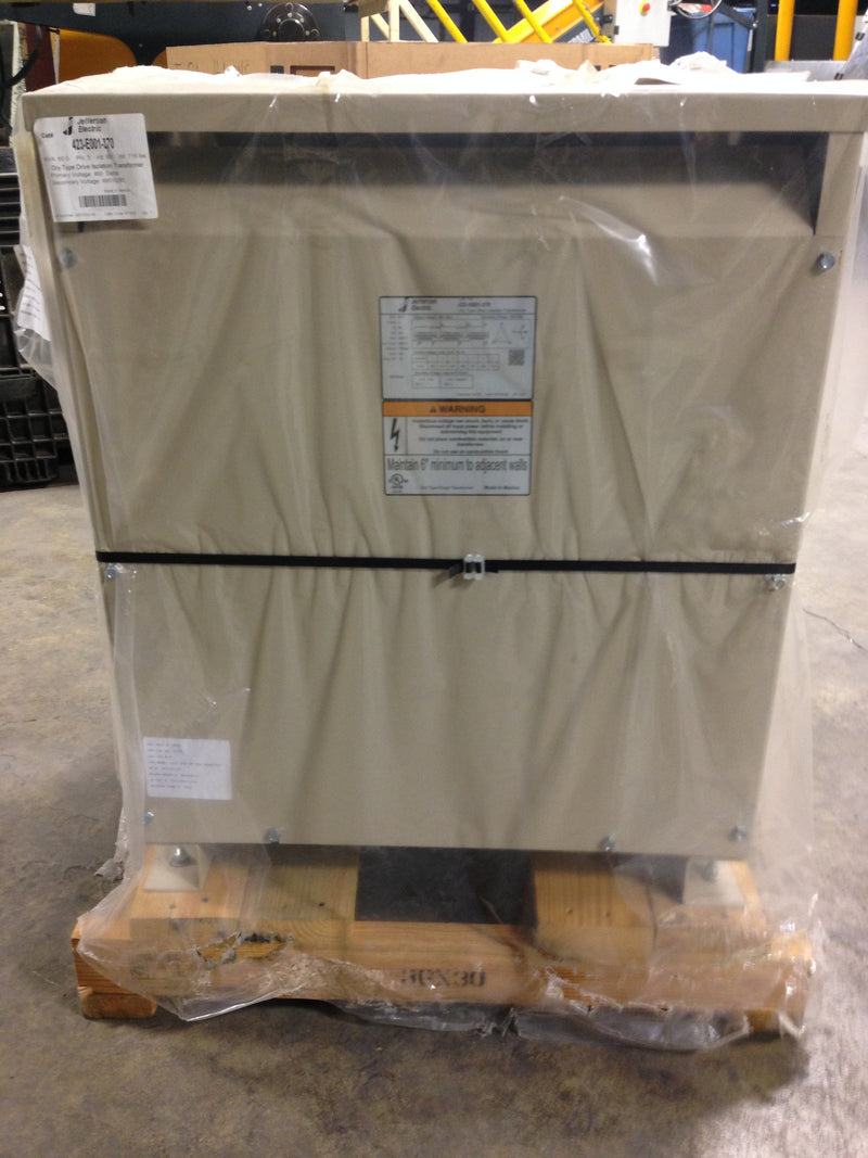 Jefferson Electric Dry Type Drive Isolation Transformer KVA 85 423-E001-370 - Transformers - Metal Logics, Inc. - 8