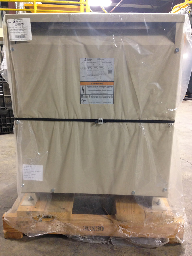Jefferson Electric Dry Type Drive Isolation Transformer KVA 85 423-E001-370 - Transformers - Metal Logics, Inc. - 6