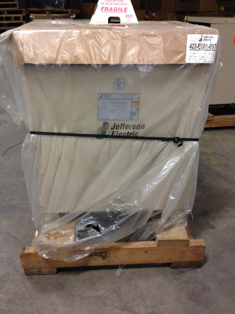 Jefferson Electric Dry Type Drive Isolation Transformer	 423-E001-097 KVA 51 - Transformers - Metal Logics, Inc. - 4