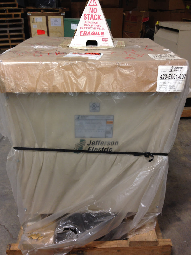 Jefferson Electric Dry Type Drive Isolation Transformer	 423-E001-097 KVA 51 - Transformers - Metal Logics, Inc. - 1