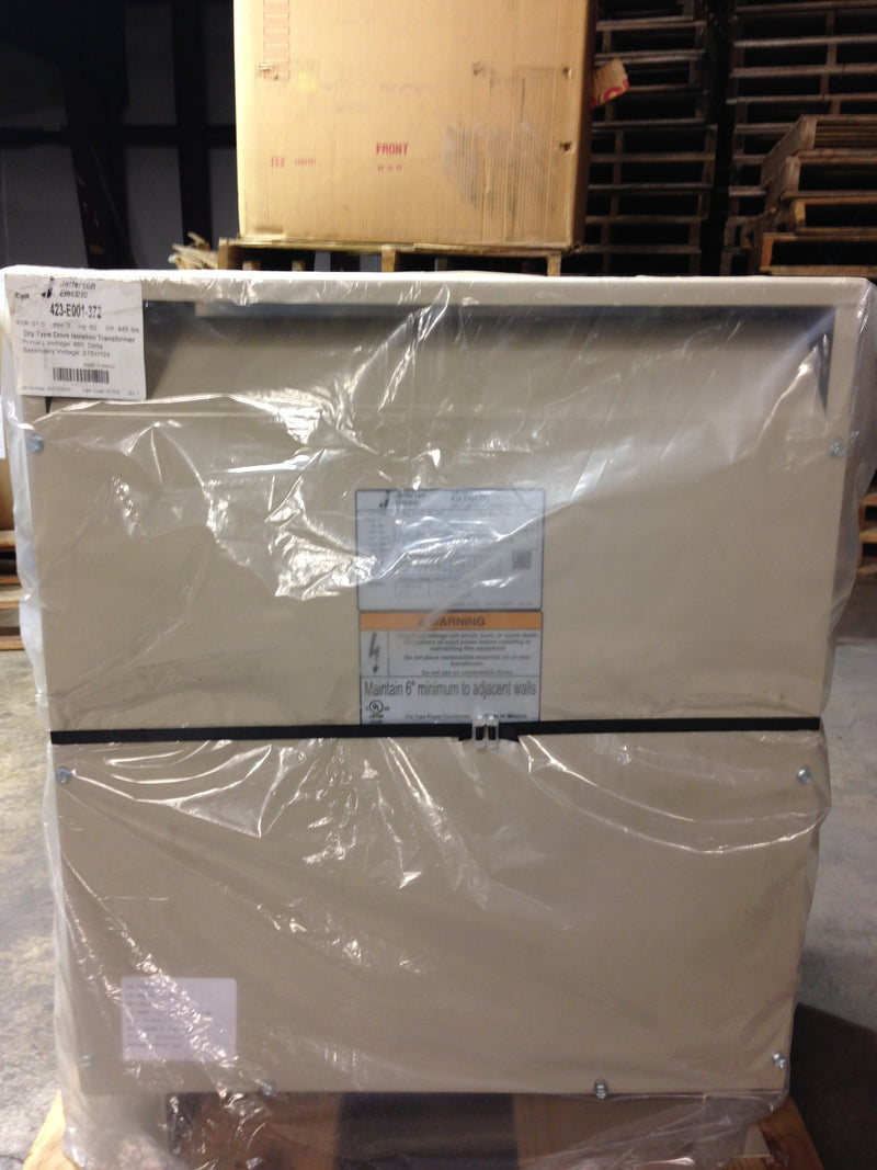 Jefferson Electric Dry Type Drive Isolation Transformer 423-E001-372 KVA 51 - Transformers - Metal Logics, Inc. - 2