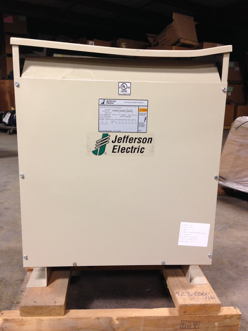 Jefferson Electric Dry Type Drive Isolation Transformer 423-E001-116 KVA 63 - Transformers - Metal Logics, Inc. - 1