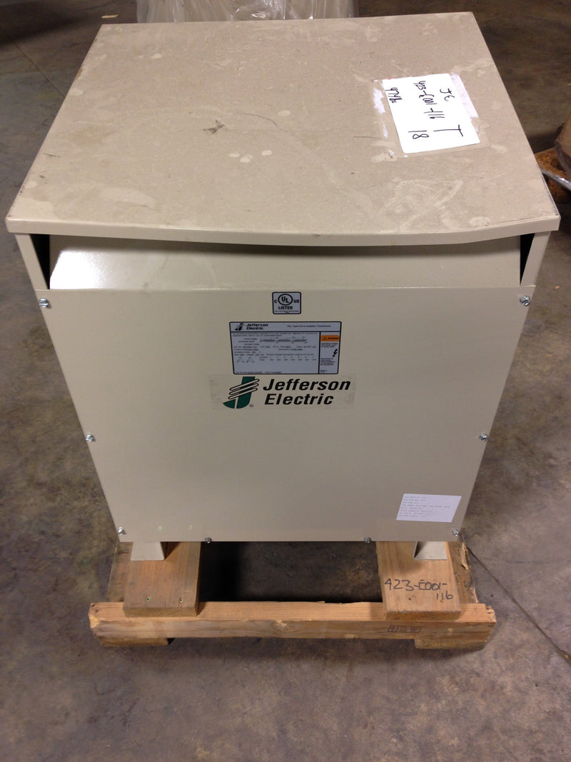 Jefferson Electric Dry Type Drive Isolation Transformer 423-E001-116 KVA 63 - Transformers - Metal Logics, Inc. - 4