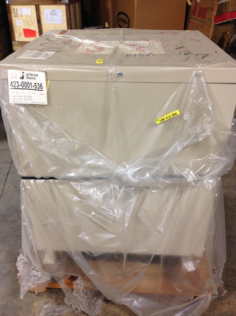 Jefferson Electric Dry Type Drive Isolation Transformer 423-0001-536 KVA 27 - Transformers - Metal Logics, Inc. - 3