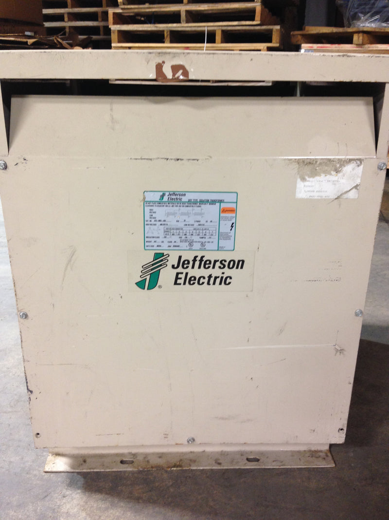 Jefferson Electric Dry Type Drive Isolation Transformer	 423-0001-402 T20 KVA 34 - Transformers - Metal Logics, Inc. - 1