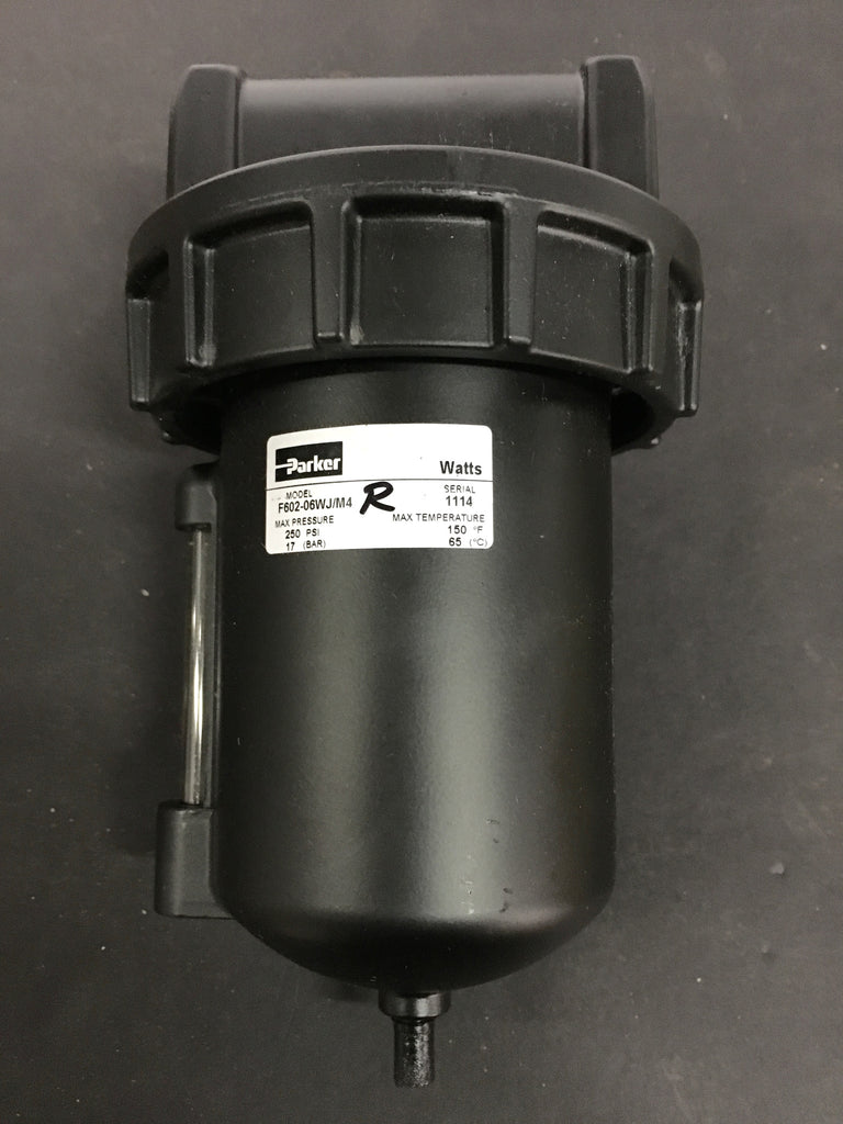 Parker Pneumatic Filter F602-06WJ/M4 - Accessories - Metal Logics, Inc. - 1