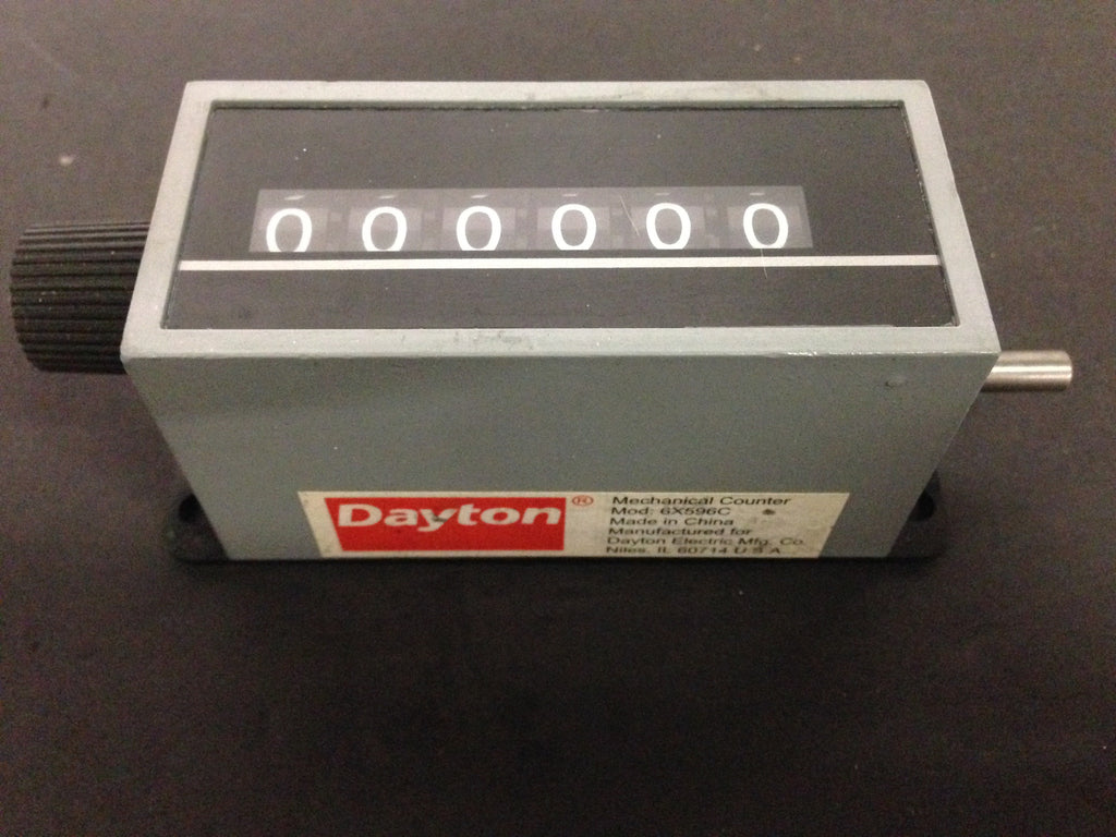 Dayton Mechanical Counter 6X596C - Accessories - Metal Logics, Inc. - 1