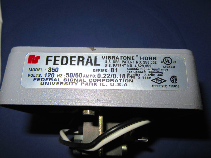 Federal Vibratone Horn Model 350 - Electronics - Metal Logics, Inc. - 2