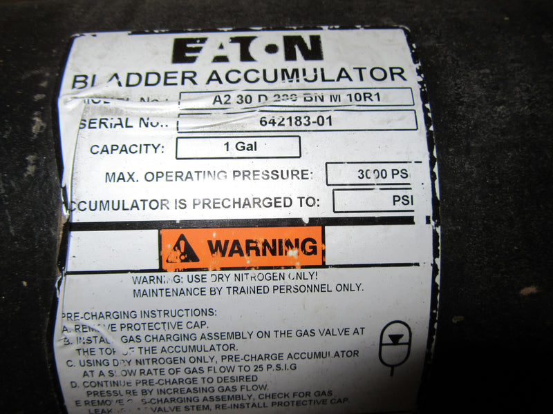 Eaton Bladder Accumulator A230D200 B/N M 10R1 - other - Metal Logics, Inc. - 2