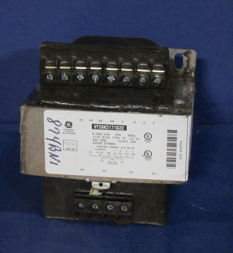 Dover Transfomer 9T58K5171G22, 1 PH, 60 HZ - Transformers - Metal Logics, Inc. - 2