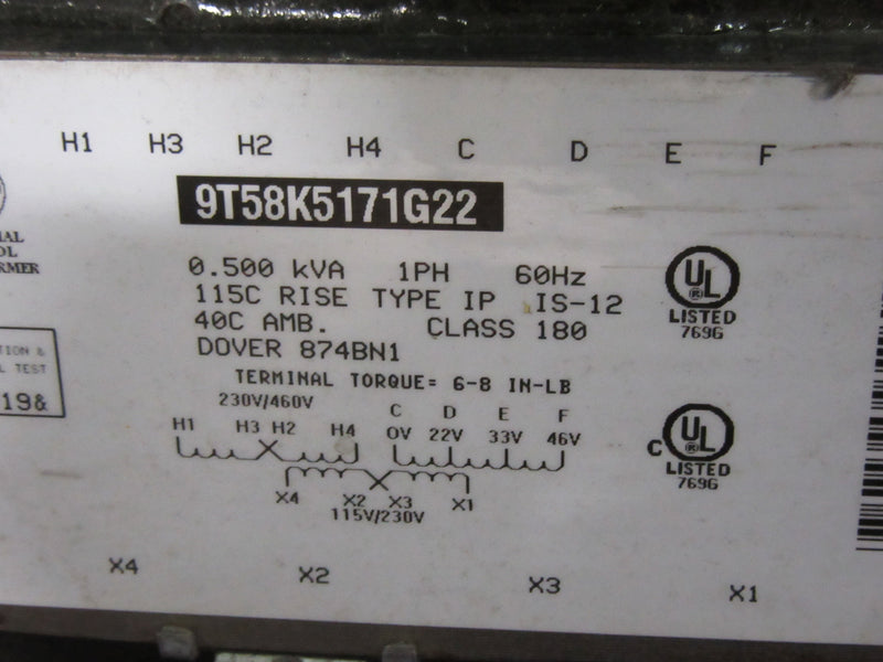 Dover Transfomer 9T58K5171G22, 1 PH, 60 HZ - Transformers - Metal Logics, Inc. - 1