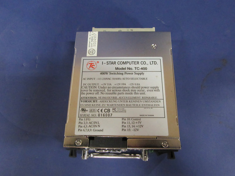 I-Star Computer Switching Power Supply Model TC-400 - Electrical Equipment - Metal Logics, Inc. - 1