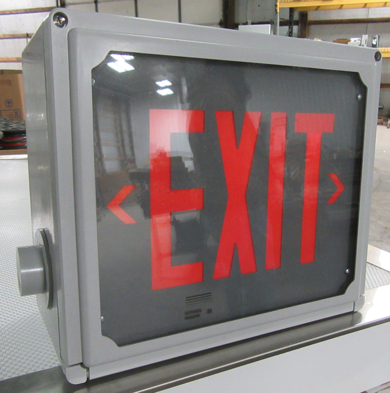 Chloride Systems Hazardous Locations Emergency Exit Sign Model HZNRIC