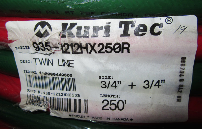 "Qty (4) Kuri Tec Twin Line Tubing 3/4"", 250' - Accessories - Metal Logics, Inc. - 4"