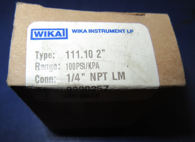 WIKA 111.10 Pressure Gauge 8990357 - Accessories - Metal Logics, Inc. - 2