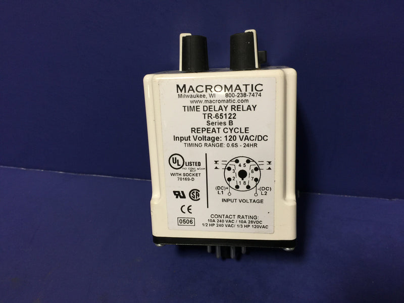 MACROMATIC TIME DELAY RELAY TR-65122 120V - Relays - Metal Logics, Inc. - 3