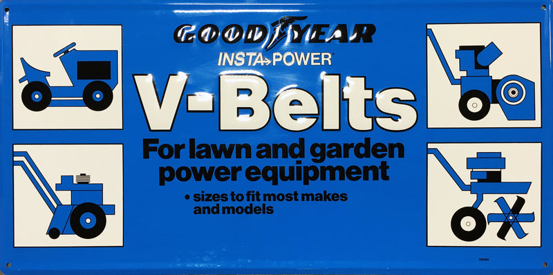 Goodyear Insta-Power V-Belts Vintage Sign