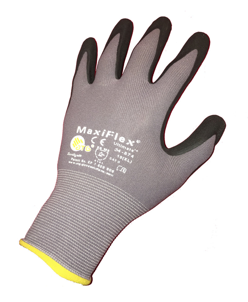 MaxiFlex Ultimate Nylon Nitrile Grip Gloves Size X-Large 12 Pair Per Pack - Gloves - Metal Logics, Inc. - 1