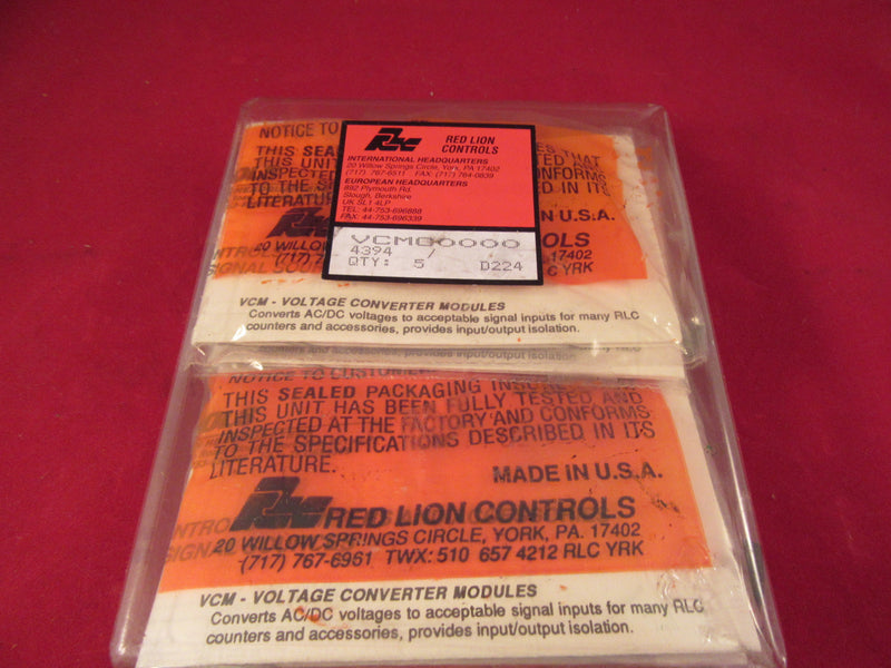 Lot of 5 Red Lion Controls Voltage Converter Modules Model VCMC0000 - Electrical Equipment - Metal Logics, Inc. - 3