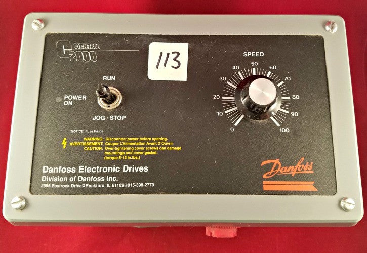 Danfoss Cycletrol 2000 Electronic Drive - Used - Electrical Equipment - Metal Logics, Inc. - 1